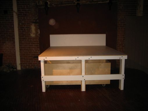 Custom Made Platform Bed With Drawers By Lucky13 Design