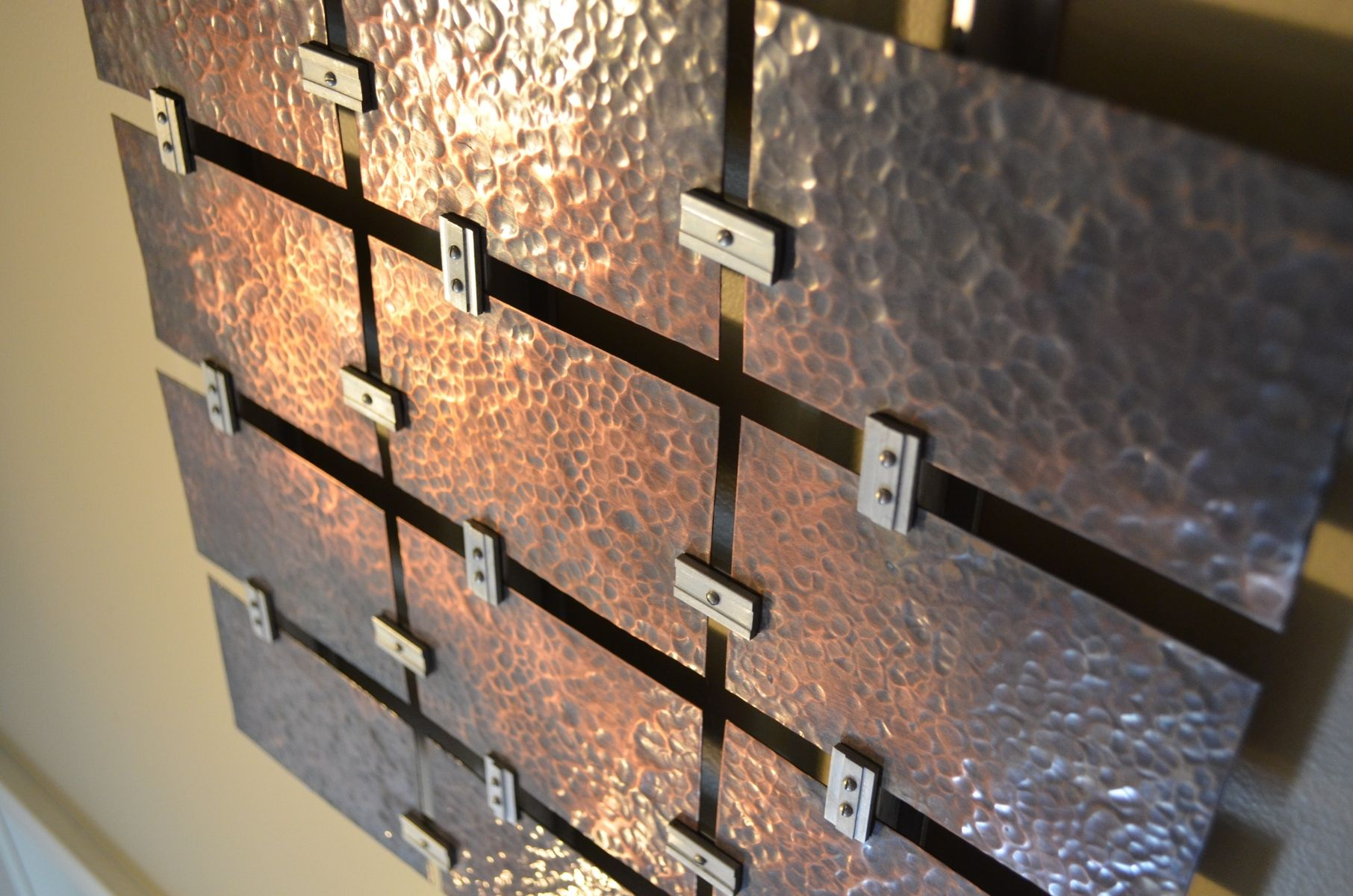 Custom Hammered Copper Wall Art By Fabitecture