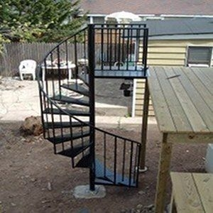 Custom Exterior Spiral Staircase Installation Included By | Installing A Spiral Staircase | 10 Foot | Glass | Drawing | Interior | Staircase 2