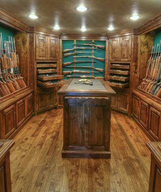 Hand Crafted Solid Walnut Gun Room By Julian And Sons