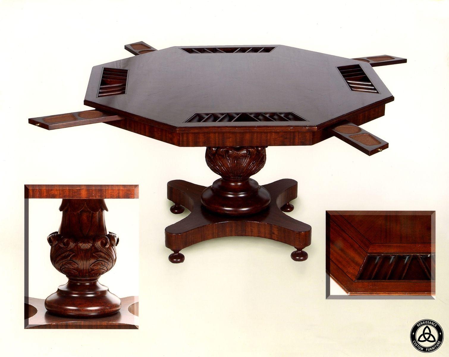 Custom 454 Poker Table By Renaissance Custom Furniture