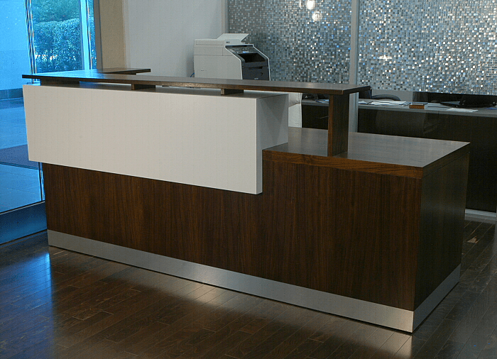Hand Crafted Duchamp Reception Desk Contemporary