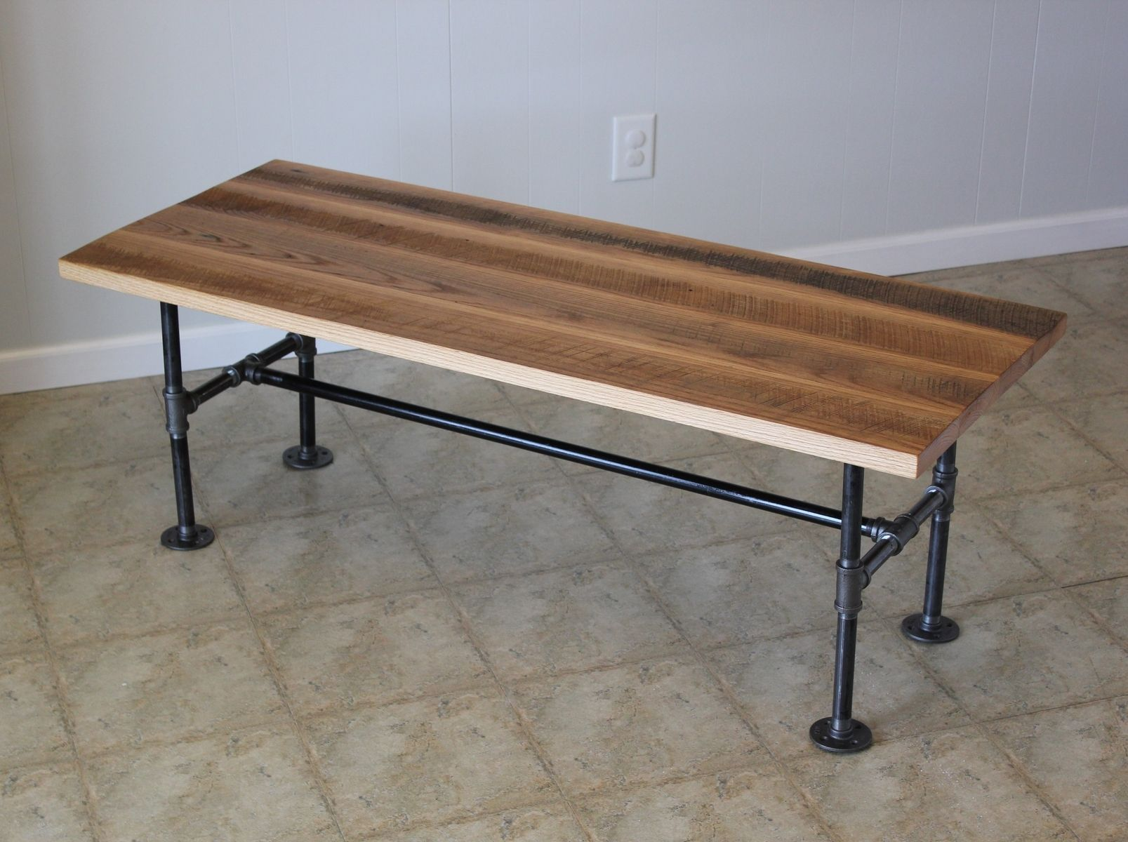 reclaimed barn wood coffee table with