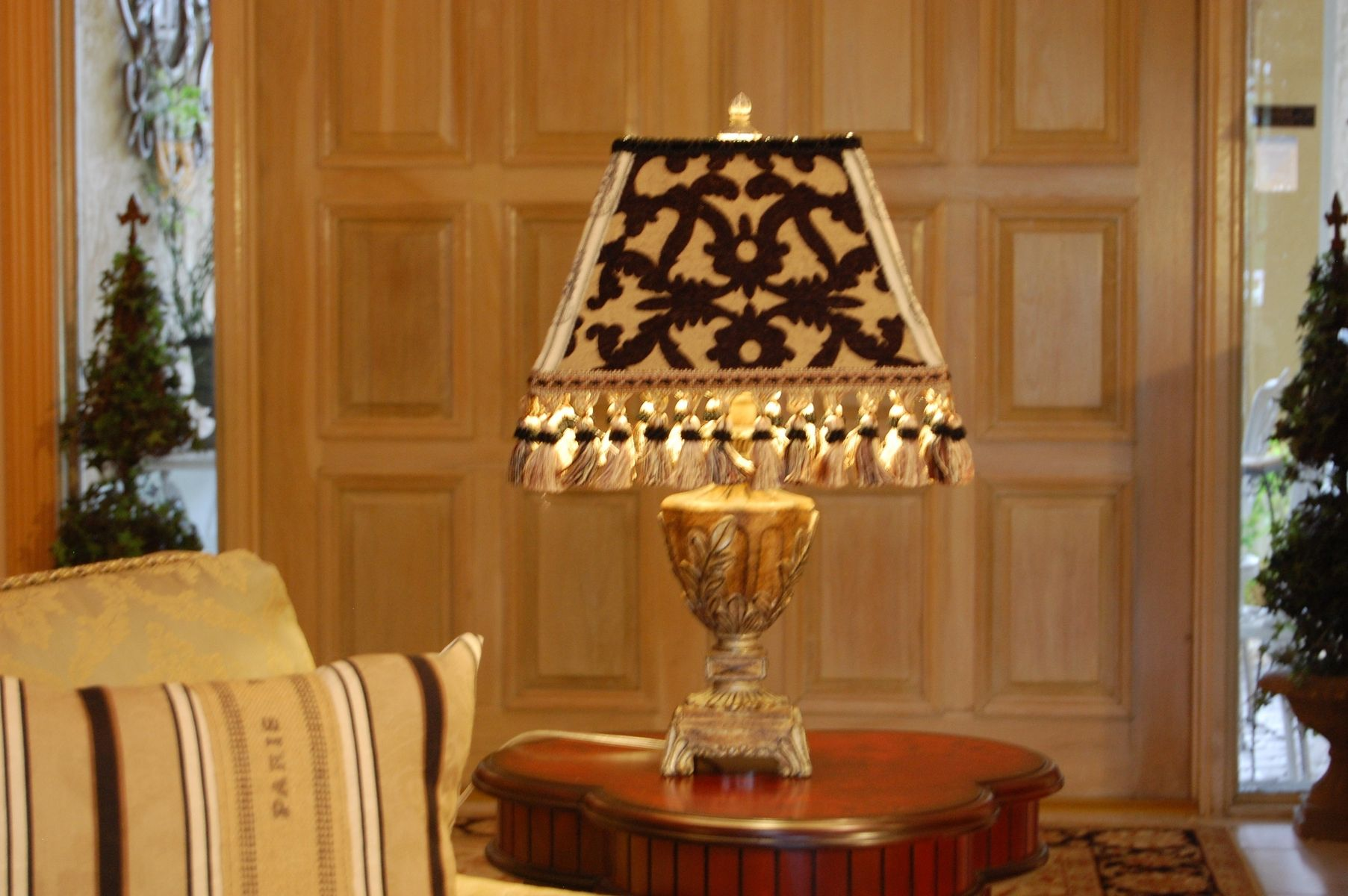 Handmade Custom Made Black And Gold French Lamp Shade By