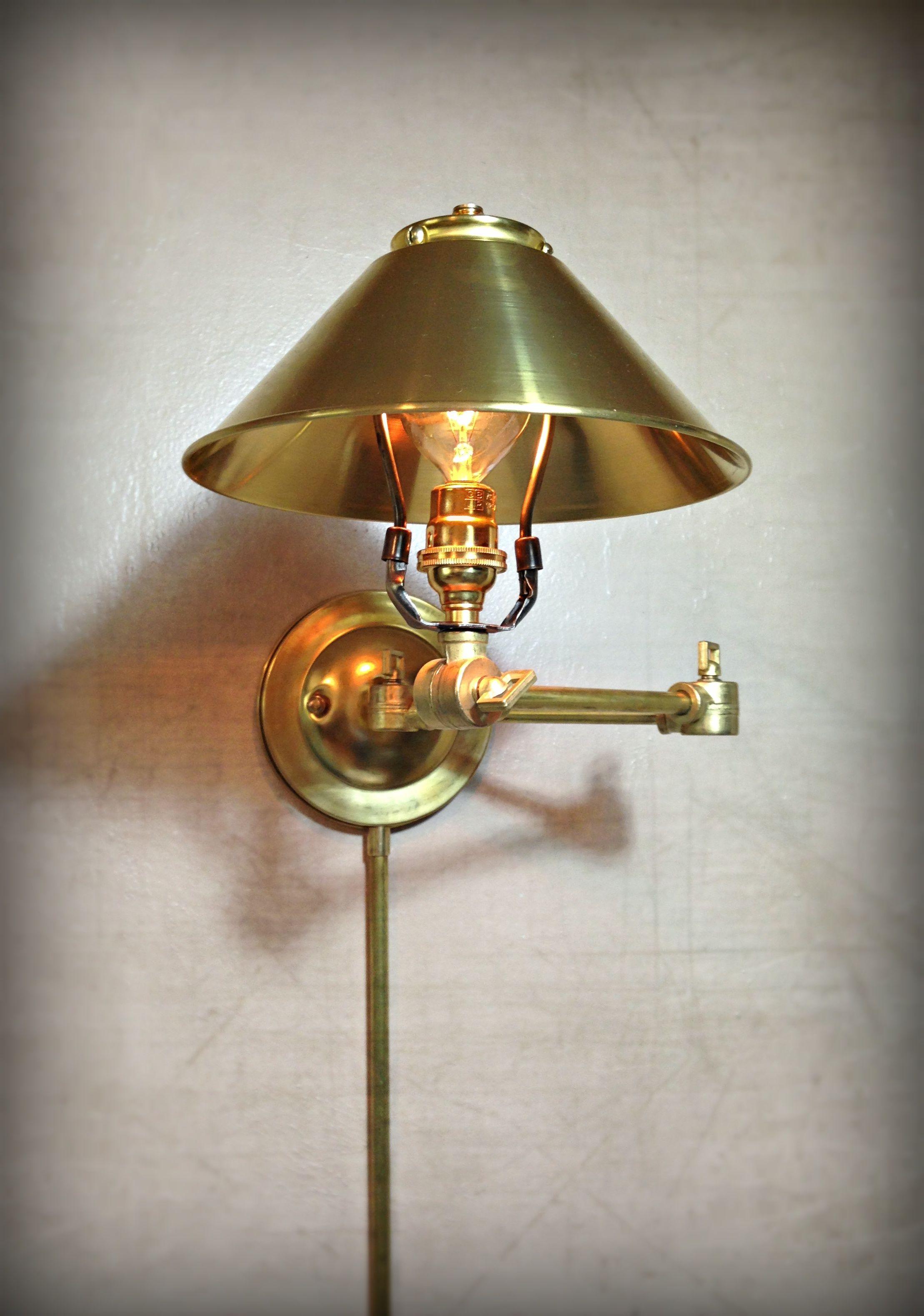 Buy Handmade Adjustable Articulating Wall Mount Light ... on Plugin Wall Sconce Lights id=12811
