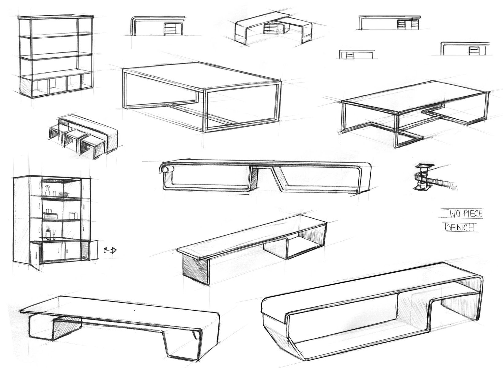 Hand Made Design Sketches By Affordable Solution