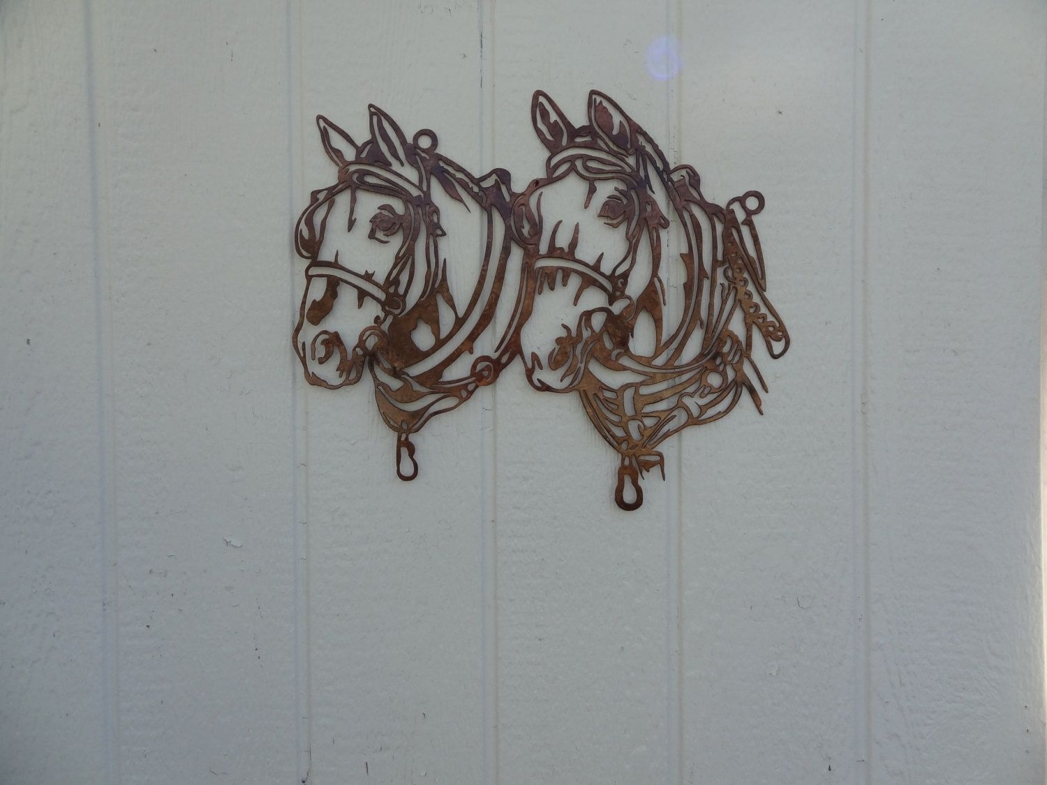 Buy A Hand Crafted Draft Horse Head Metal Wall Art Country