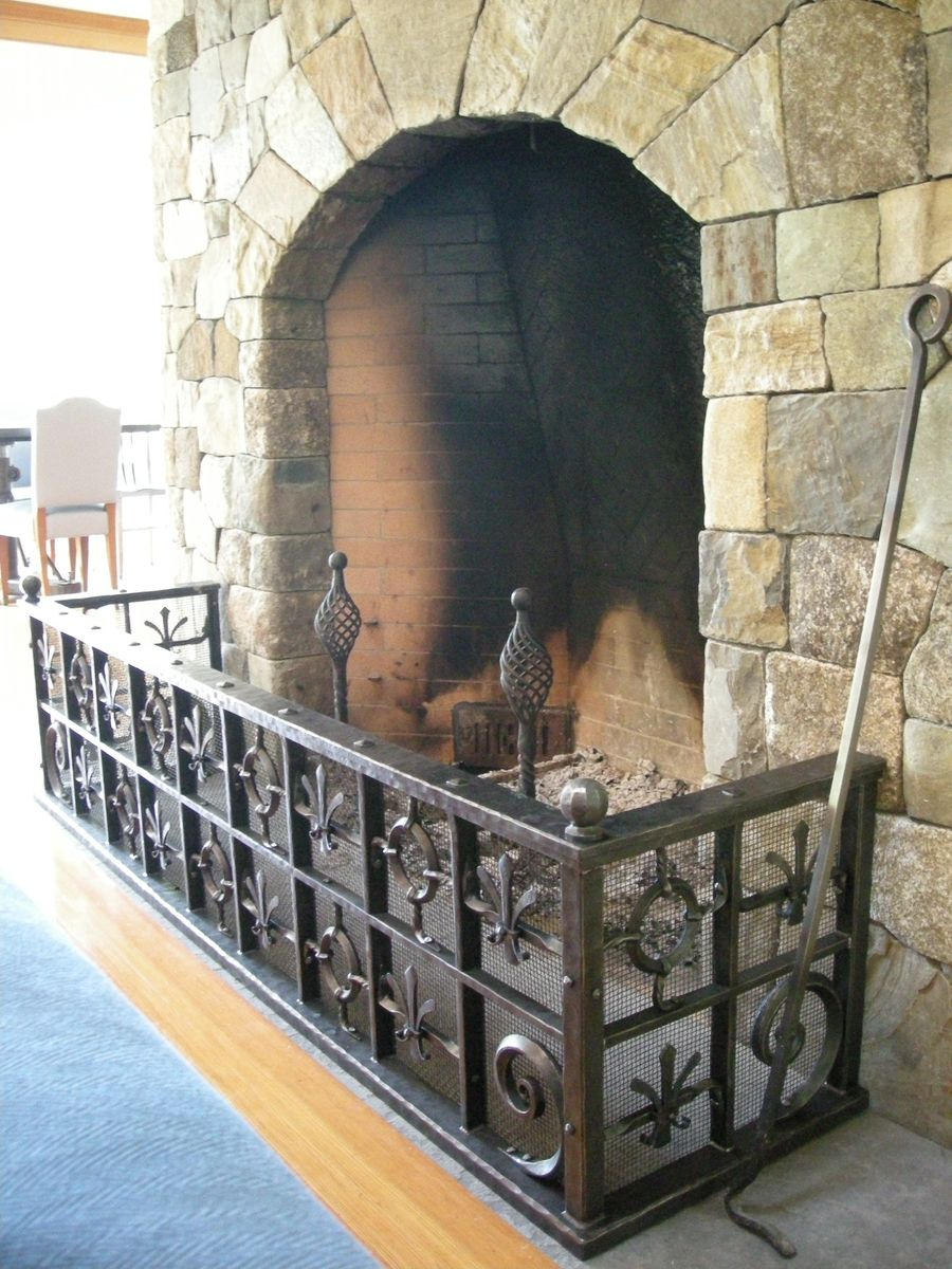 Hand Crafted Old World Style Fireplace Guard By Benjamin