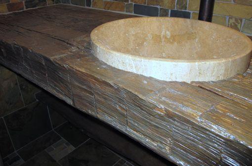 Custom Rustic Bathroom Vanity Countertop Reclaimed