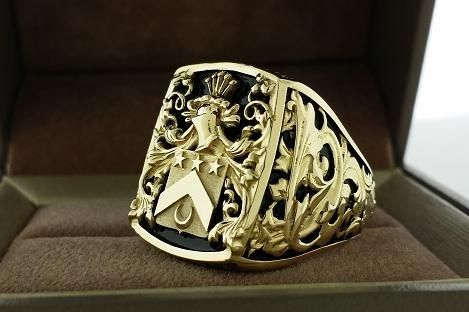 Handmade Mens Ring Crest Ring By 3dheraldry