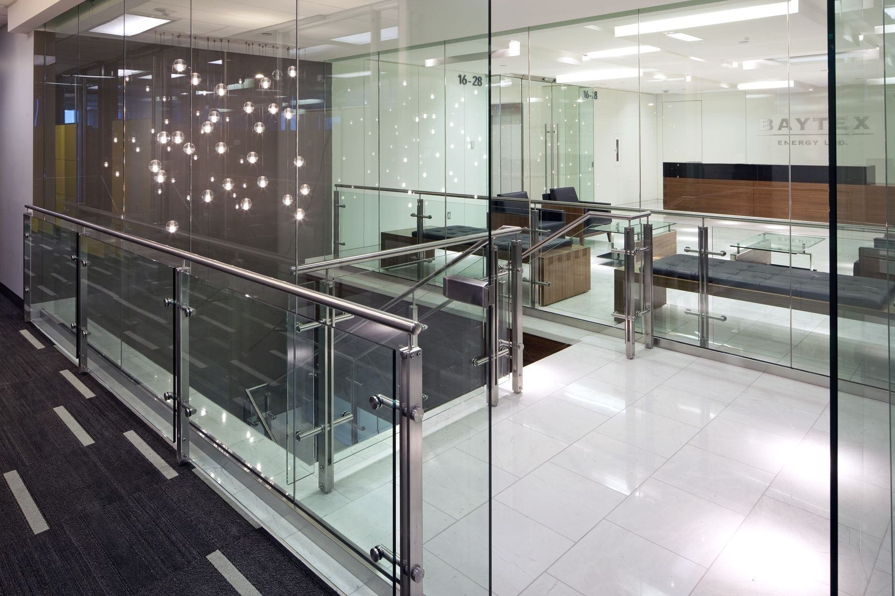 Hand Made Stainless Steel And Glass Stair Rail System By Prestige | Glass Stair Railing Systems | Iron | Custom | Contemporary | Baluster | Design