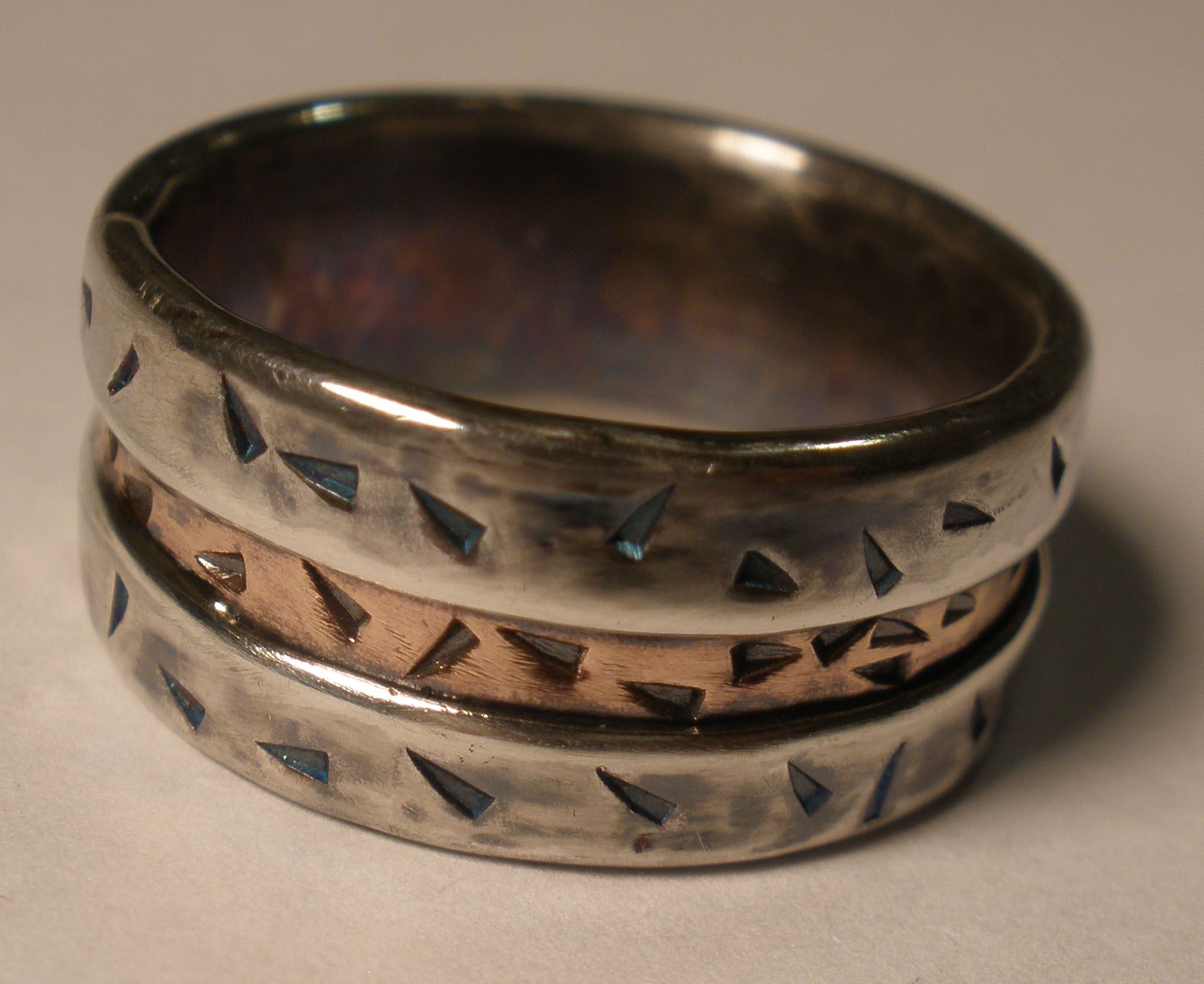 Buy A Hand Crafted Mens Wedding Band Rustic Silver Ring