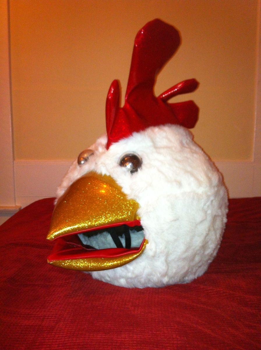 Hand Made Chicken Bobble Head MaskHelmet By LUCKY13
