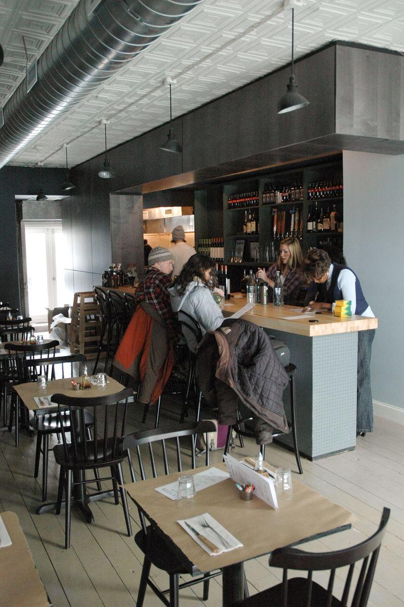 Hand Made Butcher Block Bar In Brooklyn Restaurant By Sawn