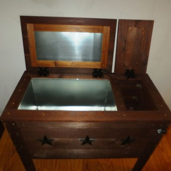 Handmade Rustic Wood Cooler Ice Chest 90qt By THH CREATIONS