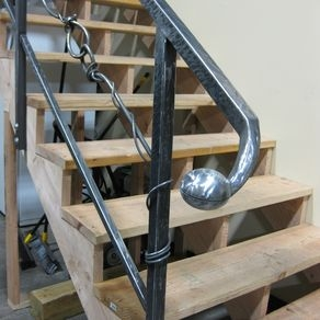 Custom Railings And Handrails Custommade Com   Custom Iron Stair Railing   Residential   French   Metal   Banister   Iron Work