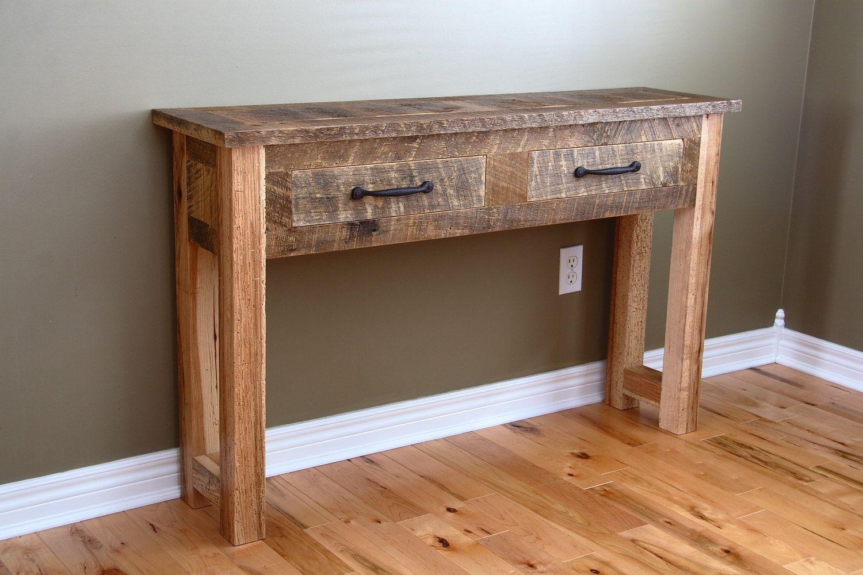 Custom Reclaimed Wood Console Table By Carpentercraig