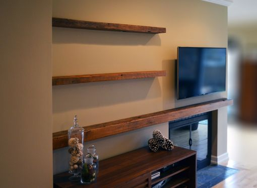 Hand Made Reclaimed Lumber Floating Shelves By Abodeacious