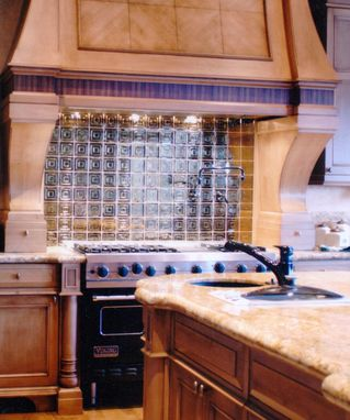 Hand Made Custom Kitchen Backsplash Omaha By Glas Tile