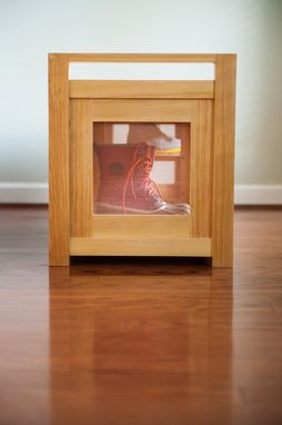 Hand Crafted Boots And Shoes Storage Bench By Meredith