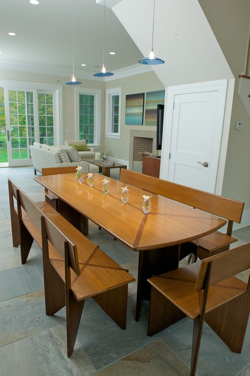 Custom Bamboo Dining Table With Benches By Bamboogems By