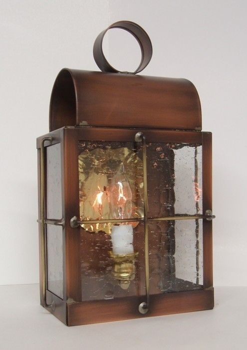 Hand Made Solid Copper Outdoor Lantern Quot Barn Lamp Quot By