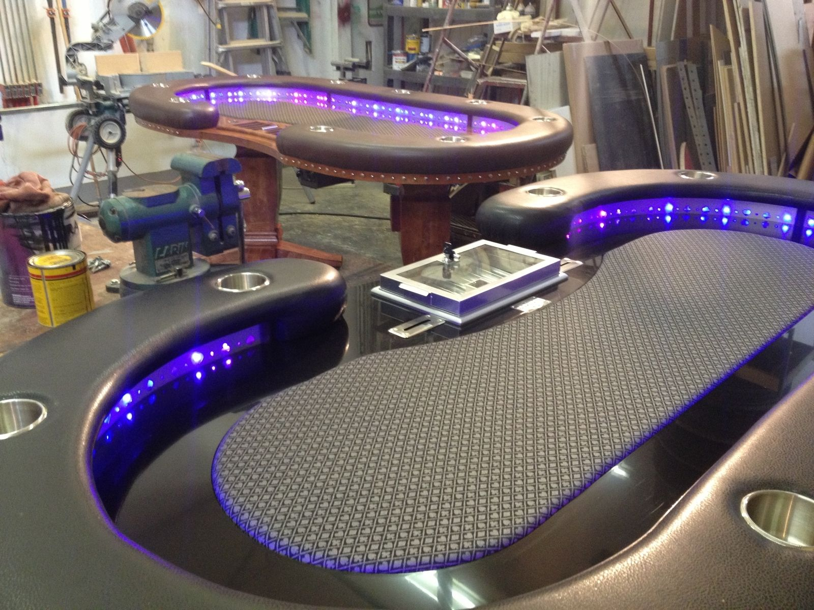 Hand Crafted Poker Tables By Raw Creations Cnc
