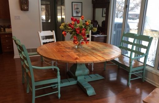 Wood Round Dining Table 4