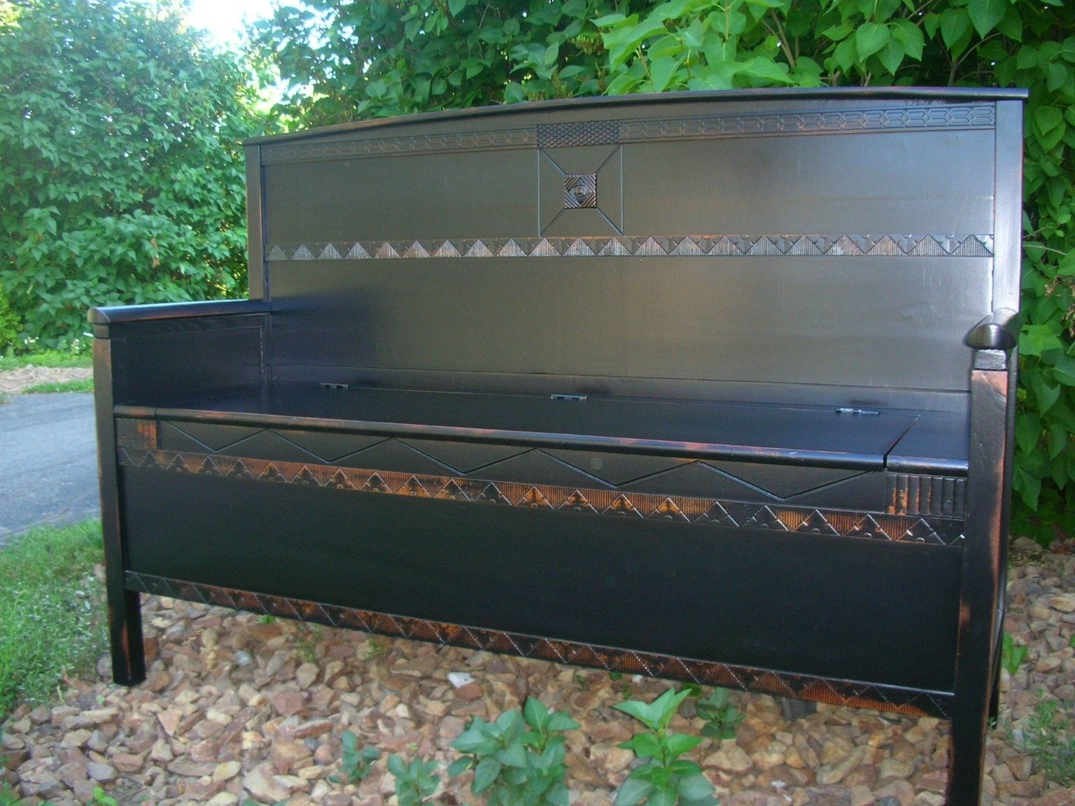 Handmade Exquisite Handcrafted Deacon S Bench By Neil