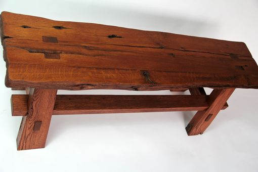 Hand Crafted Rustic Reclaimed Barnwood Bench By