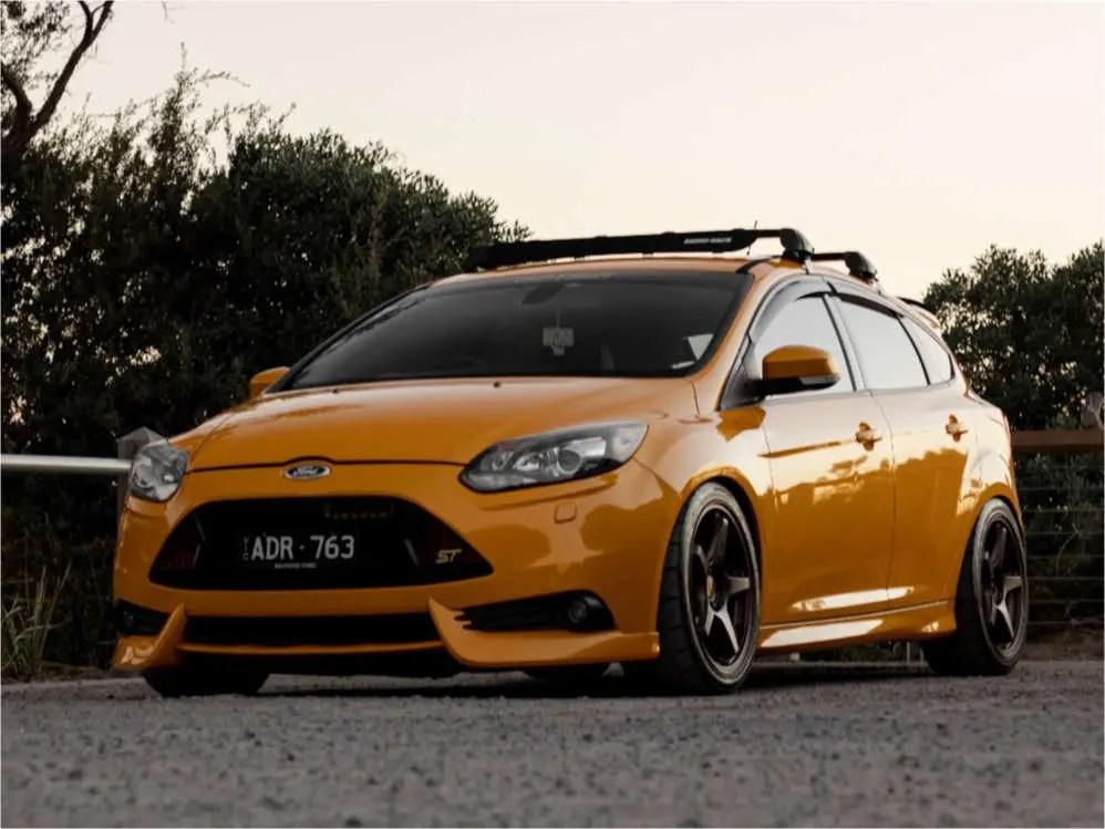 https www customwheeloffset com wheel offset gallery 1574565 2014 ford focus enkei ts 5 bc racing coilovers