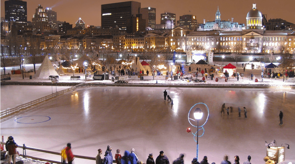 Old Montreal S Magical Ice Skating Rink Officially Opens