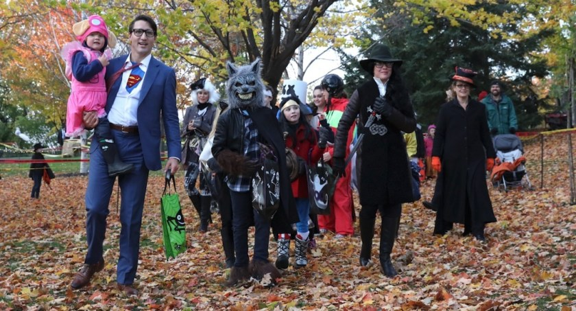 Image result for justin trudeau dresses up as superman for halloween