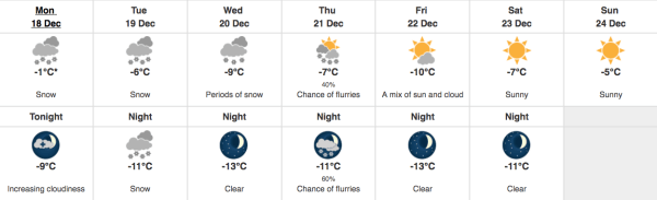 Freezing temperatures, snow in the forecast for Calgary ...
