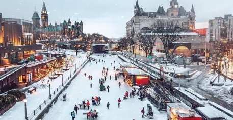 World's largest naturally frozen skating rink open for the winter ...
