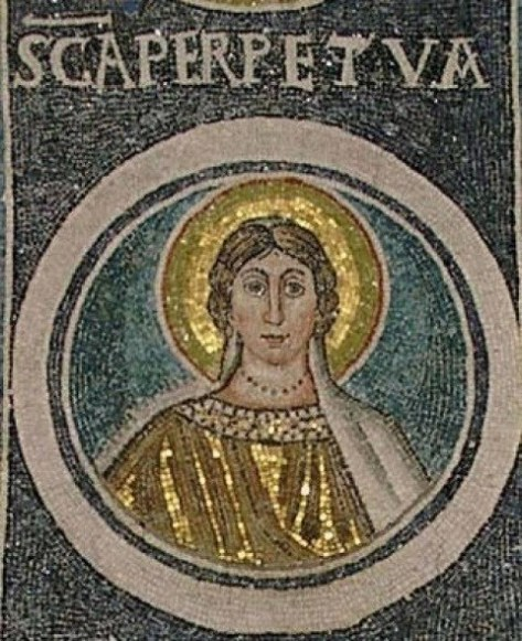 Mosaic of St Perpetua in Croatia