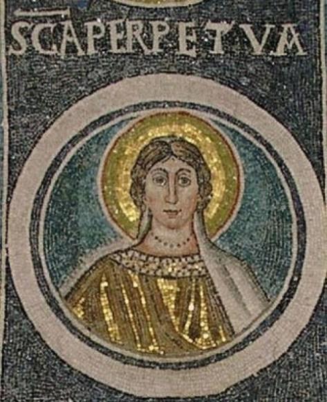 Mosaic of St Perpetua in Croatia