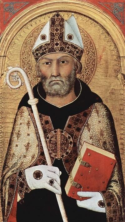 Augustine of Hippo by Simone Martini, medieval Italian painter