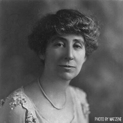 Jeannette Rankin, the first woman elected to Congress