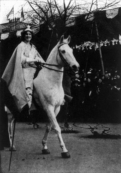 Inez Milholland leading the women