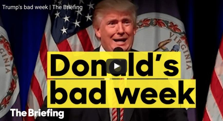 Image result for trump bad week
