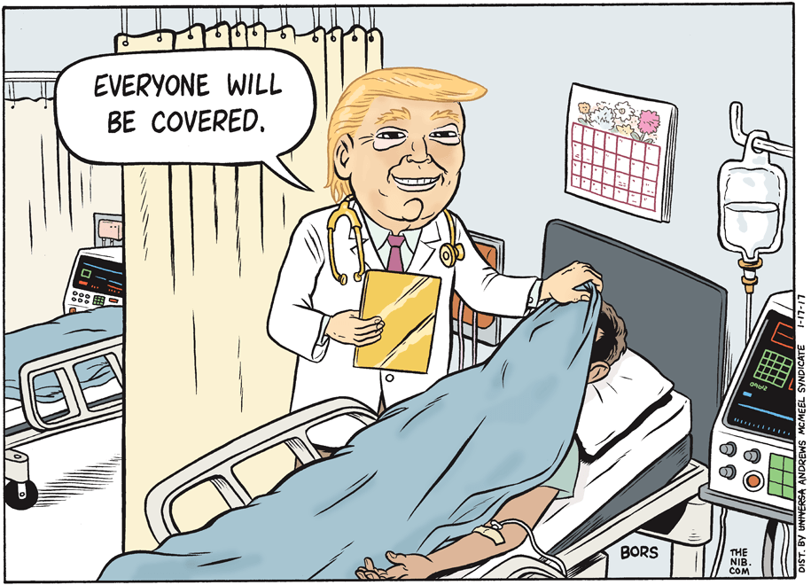 Attribution: Matt Bors. Daily Kos