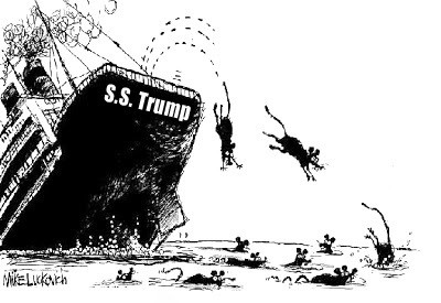 Image result for pics sinking trump ship