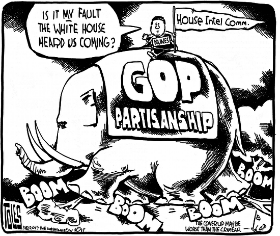 Tom Toles, Devin Nunes, House Intelligence Committee, Political Cartoon