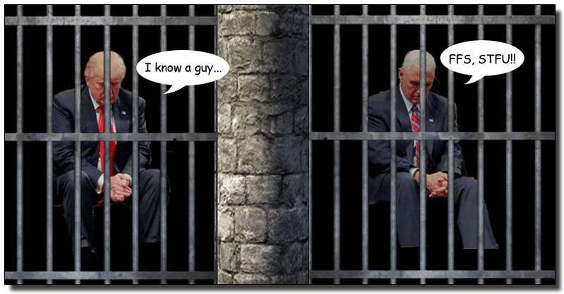 Image result for trump pence jail