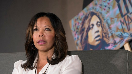 Oct. 09, 2015 - Los Angeles, California, U.S. -  LUCY MCBATH, whose son Jordan Davis was shot and killed at a gas station in Jacksonville, Florida in 2012 over loud music, participates on day one of the inaugural Politicon, a non-partisan, Comic-Con style event for politics and entertainment.  The agenda for the two-day event includes panels, debates, tv and movie screenings, live radio, podcasts, comedy shows, book readings, interviews, meet & greets, art exhibitions and music performances.(Credit Image: © Brian Cahn via ZUMA Wire)
