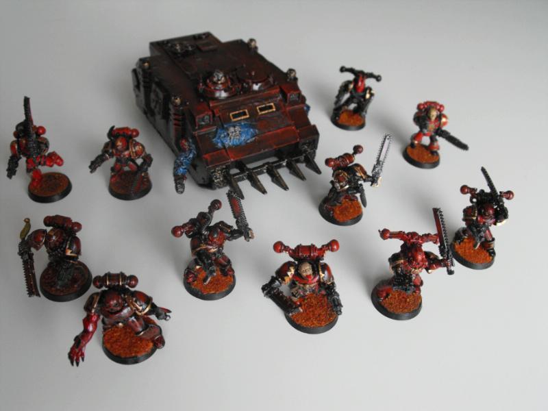 Berserkers, Chaos Space Marines, Rhino