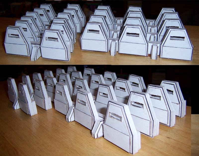 WIP Warhammer 40K Aeigis Defense Line Miniatures Terrain