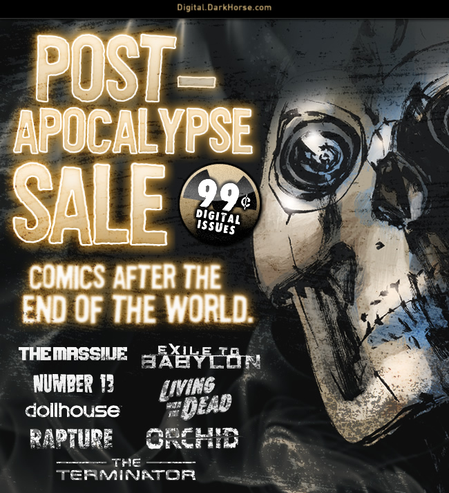 Post-Apocalypse Sale is now live. Get 99 cent digital comics