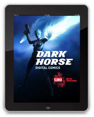 Load screen for Dark Horse app